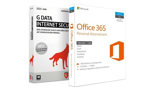Microsoft Office 365 Personal [1 PC //Mac // 1 Tablet // 1 Jahr] inkl. G Data Internet Security günstiger kaufen