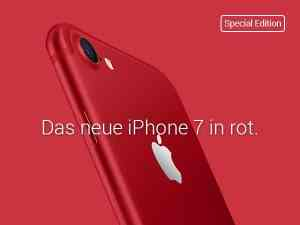 iPhone 7 128 GB in rot mit Vertrag