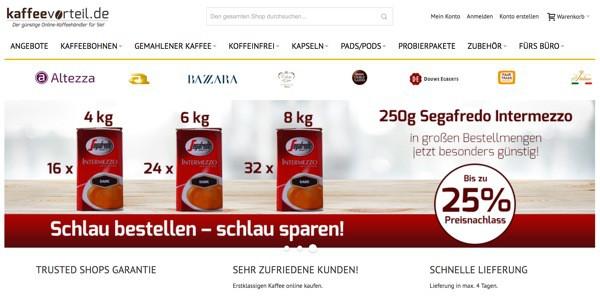 kaffeevorteil.de Gutscheine und Rabatte