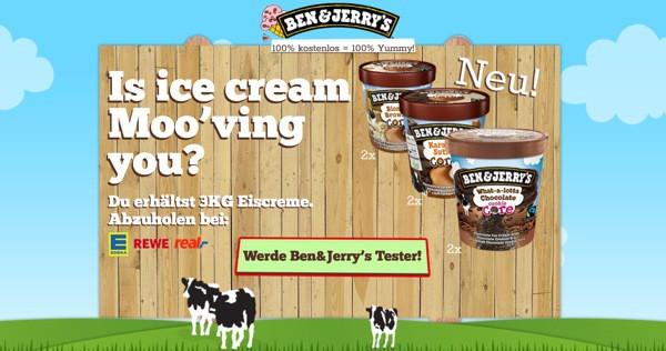 Ben & Jerry´s Eis kostenlos testen und probieren