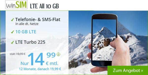 winSIM 10 GB Surfflat LTE