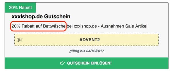 xxxlshop.de Gutscheine beachten