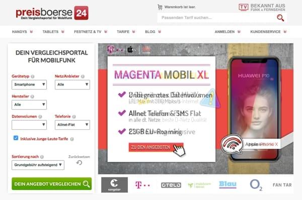 preisboerse24 Gutschein Telekom