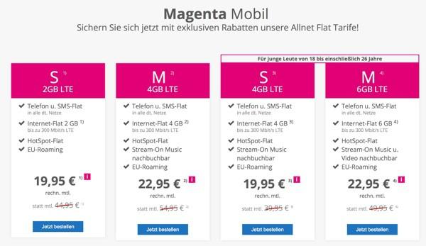 Telekom Allen Flat Magenta günstiger