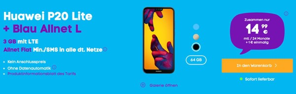 Huawei Smartphone mit Vertrag günstiger