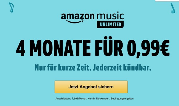 Amazon Music Unlimited kostenlos testen