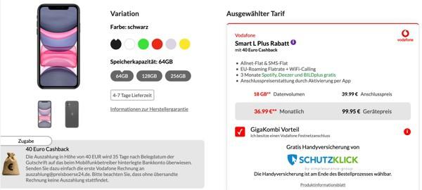 iPhone 11 Vodafone