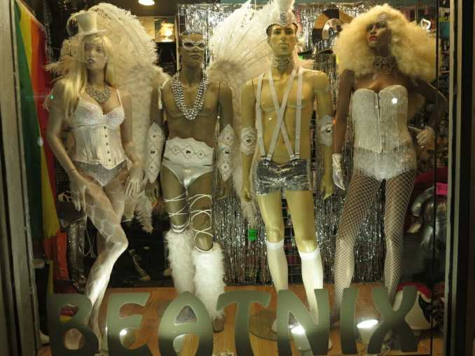 Sexy Klamotten in einem Schaufenster