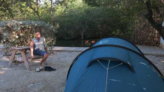 Grillen und Zelten