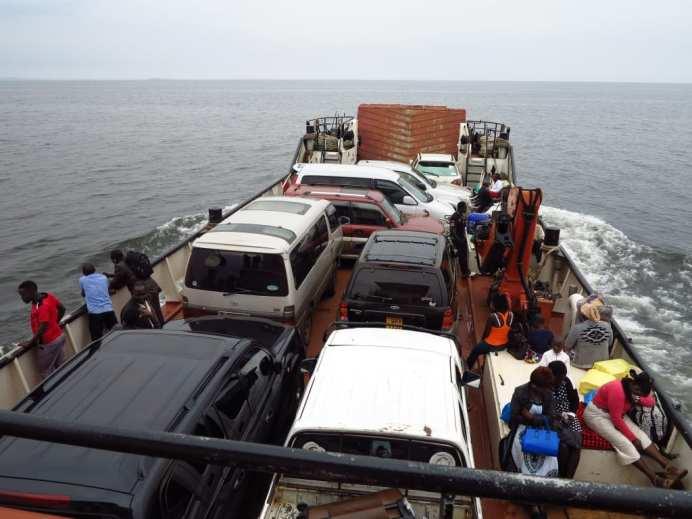 Fähre auf dem Victoria-See in Uganda