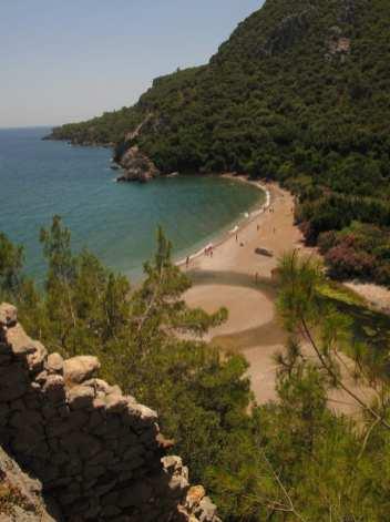 Ausblick auf eine schöne Bucht