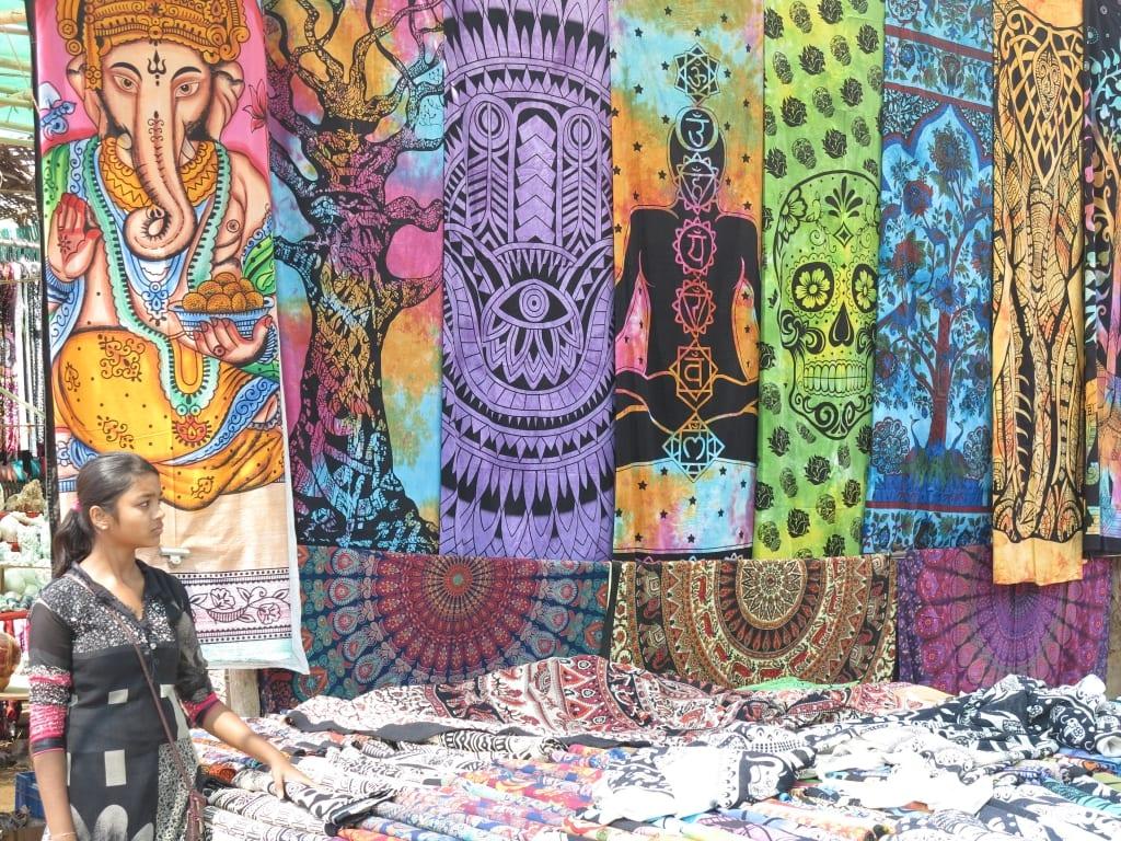 Markt in Anjuna in Goa