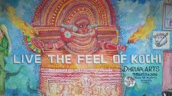 Streetart in Kochi in Kerala