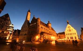 Rothenburg ob der Tauber am Abend