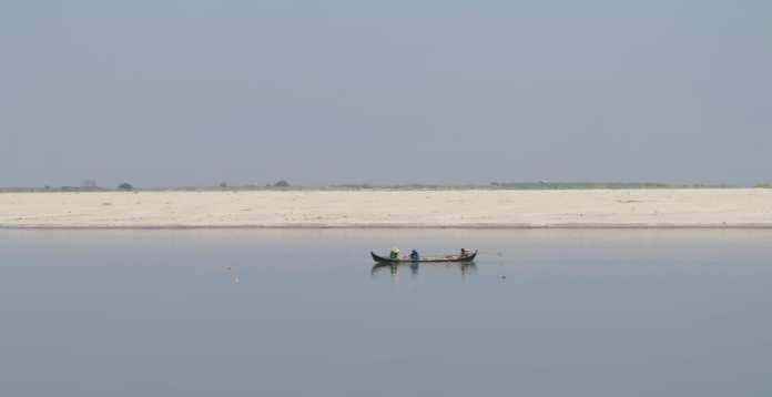 Der Fluss Ayeyarwady in Myanmar