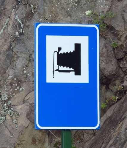 Hinweisschild Aussichtspunkt La Gomera