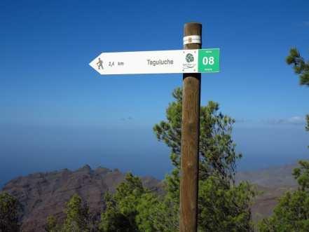 Wanderschild auf La Gomera