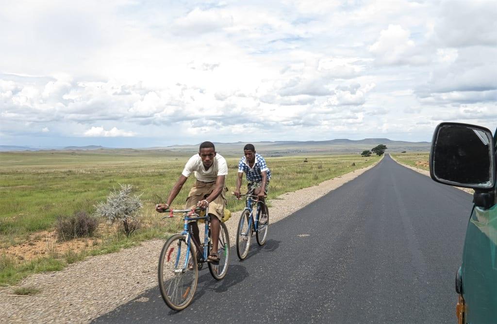 Radfahrer in Madagaskar