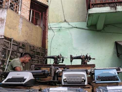 Schreibmaschinenverkäufer in Antananarivo