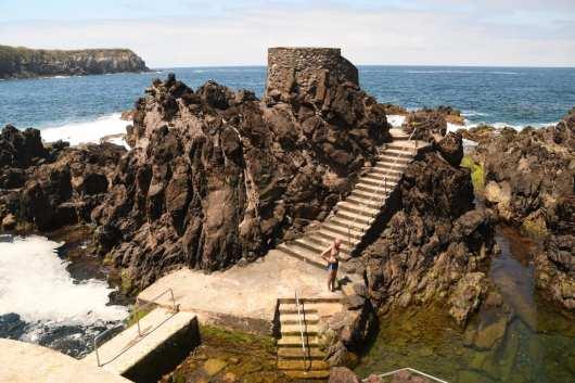 Lavapools in Biscoitos auf Terceira