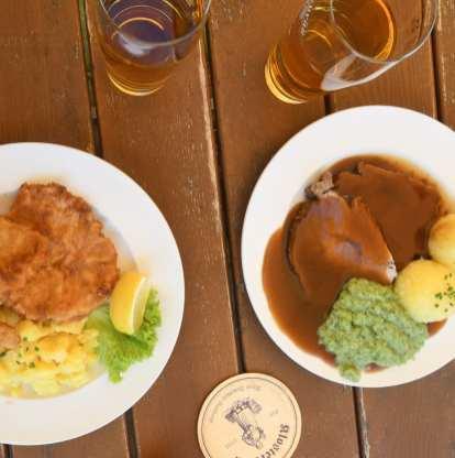Schnitzel und Sauerbraten
