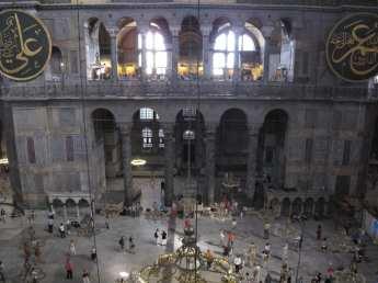 Das Innere der Hagia Sophia in Istanbul