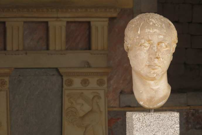 Büste in Pergamon in der Türkei
