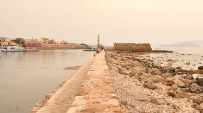 Mole am Hafen von Chaniá auf Kreta