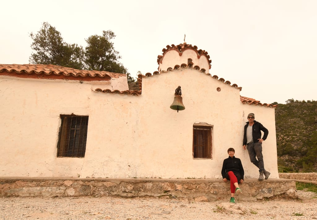 Kreuzkuppelkapelle über Soúgia auf Kreta