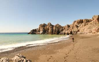 Leerer Stand Trafoulas auf Kreta