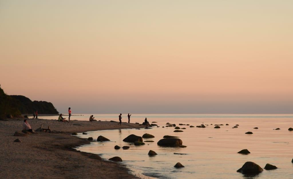 Sonnenuntergang am Strand von Bakenberg auf Rügen