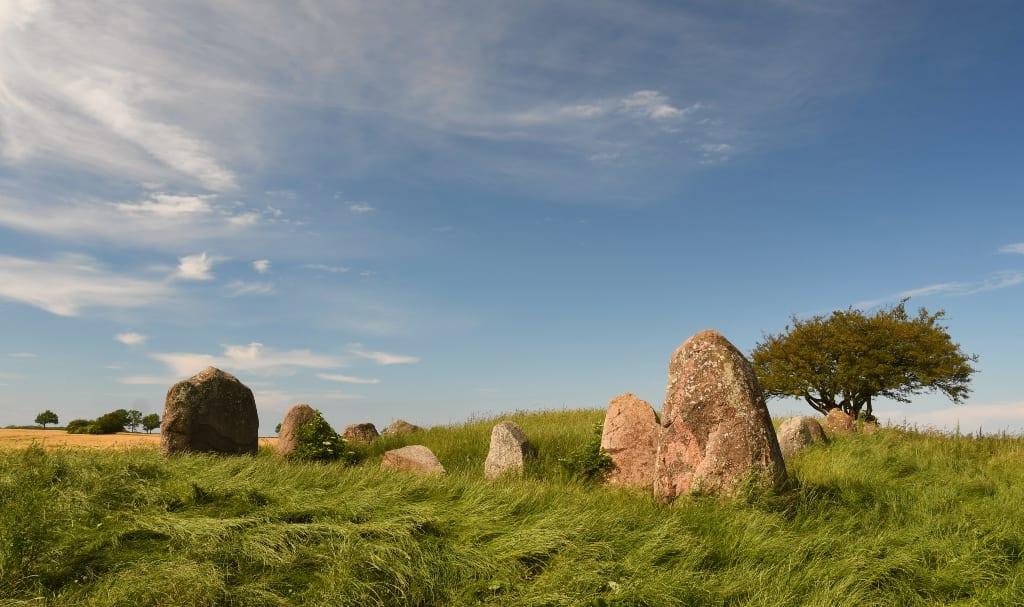 Steine auf Gras