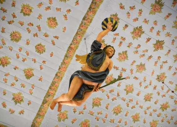 Engel in einer Kirche auf Hiddensee