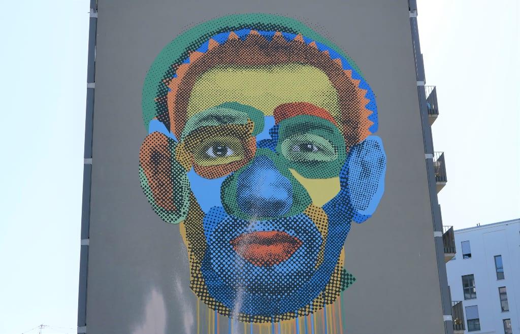 Bunter Kopf Street Art