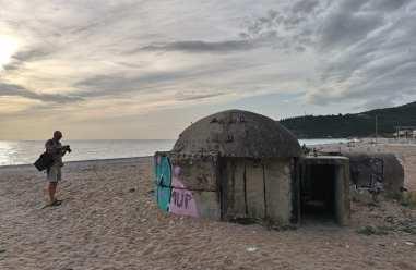 Bunker an einem Strand
