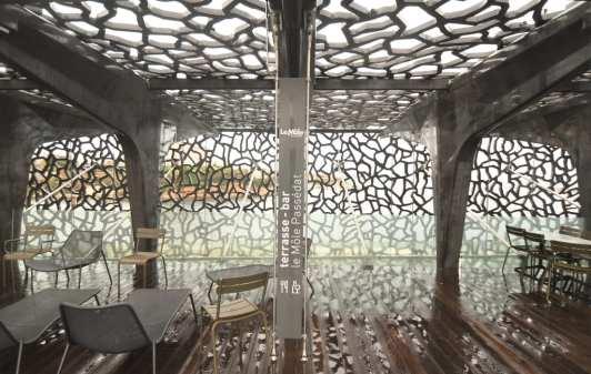 MuCEM: Dachterrasse im Schnürlregen