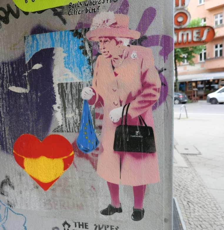 Queen als Stencil an einer Wand