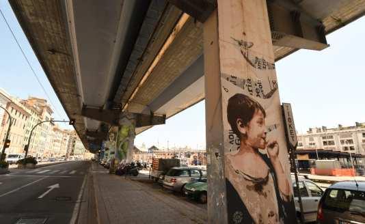 Hochstraße mit Streetart