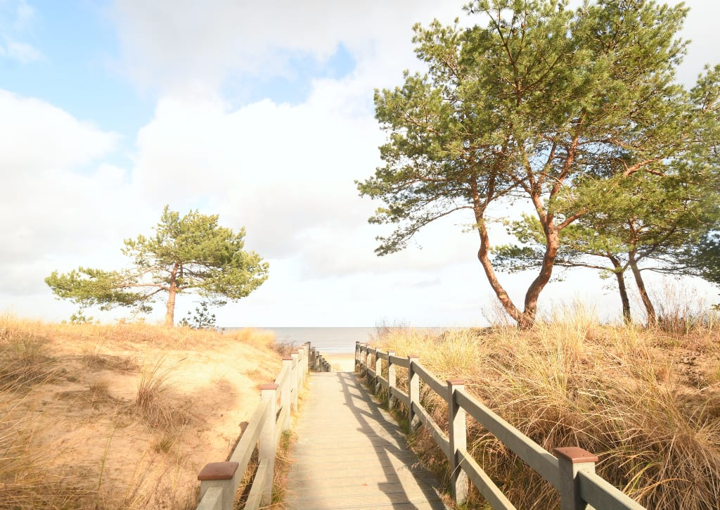 Zugang zu einem Strand