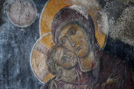 Freske Maria und das Kind