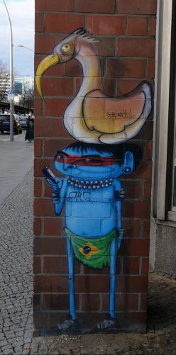 Blauer Indianer Streetart