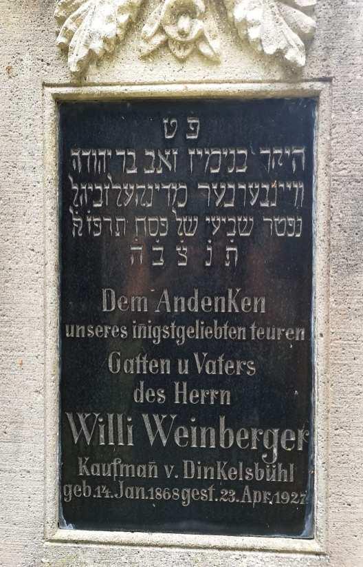 Willi Weinberger Grabstein jüdischer Friedhof