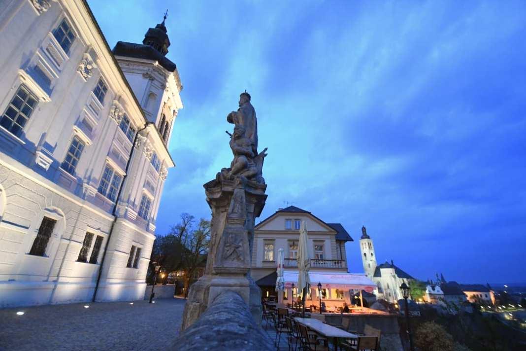 Barockstadt im Abendlicht