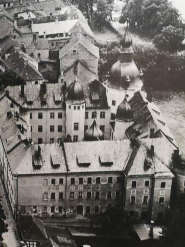 Historische Aufnahme eines Schlosses