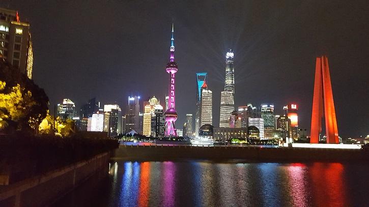 Shanghai, le Bund vu de nuit