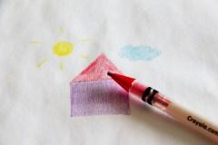 De potloden kleuren gemakkelijk...