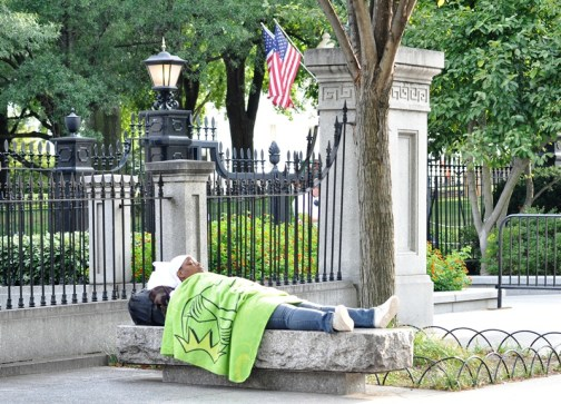 Giấc mơ Mỹ trước Nhà Trắng, Ảnh: HM