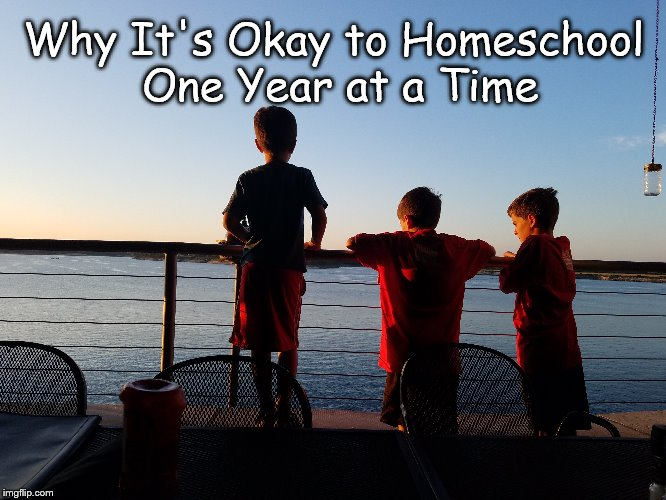 Why It's Okay to Homeschool One Year at a Time