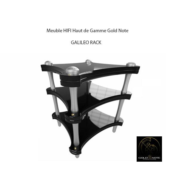 meuble hifi gold note galileo rack