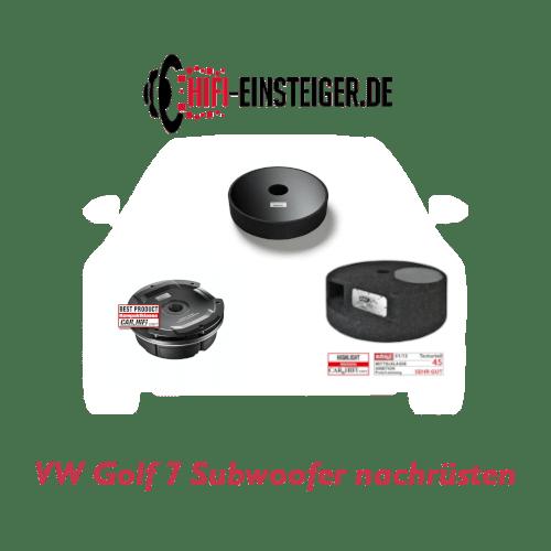 VW Golf 7 Subwoofer nachrüsten Hifi Einsteiger